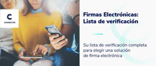 Firmas Electrónicas lista de verificación