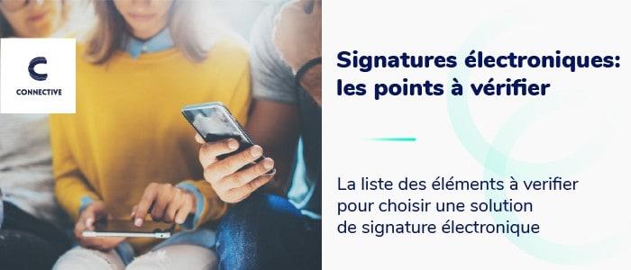 Choisir signature électronique - liste de vérification complète