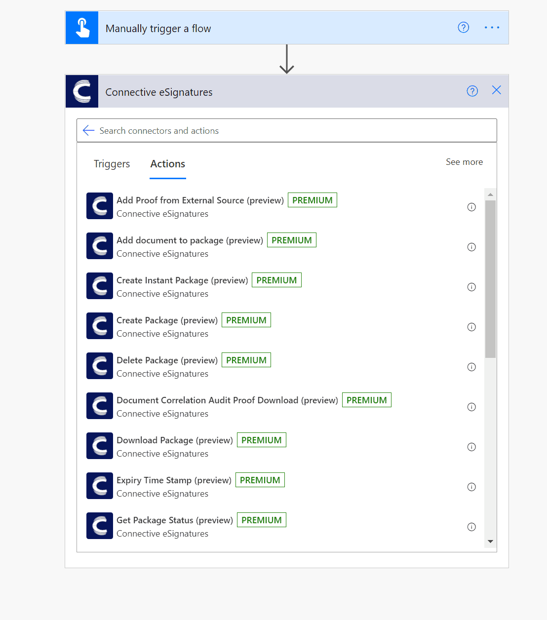 Microsoft Power Automate electronic signatures