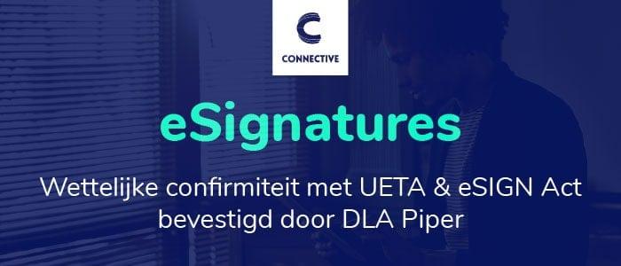 Connective eSignatures wettelijk conform met UETA en eSIGN act