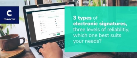 Three types of electronic signatures