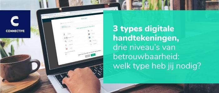 Drie types digitale handtekeningen