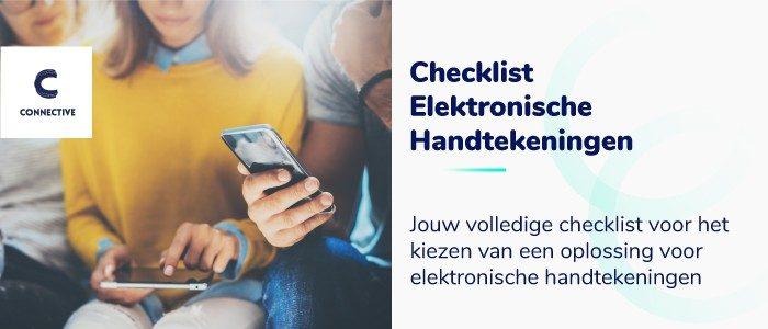 Checklist elektronische handtekeningen