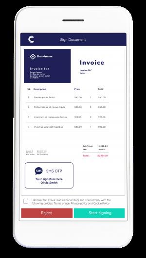 SMS OTP - Invoice - Connective eSignatures