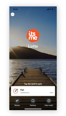 signed with itsme